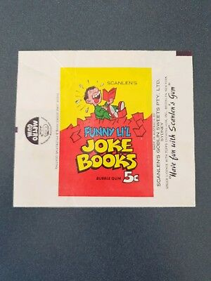 Scanlens Funny L'il Joke Books series wrapper