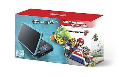 Nintendo 2DS XL Black + Turquoise with Mario Kart 7