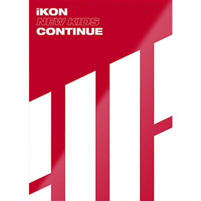 IKON [NEW KIDS:CONTINUE] Album RED CD+POSTER+Photo Book+Post Card+Card SEALED