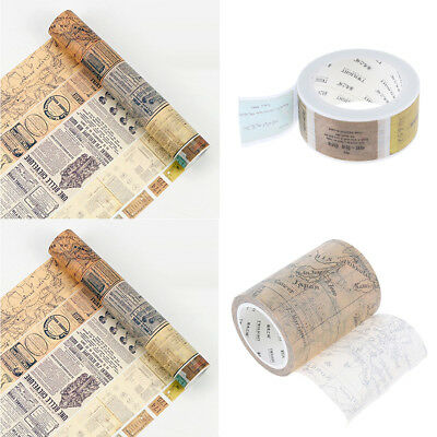 2 Piece Vintage Decorative DIY Craft Washi Tape for Diary Card Notebook Room
