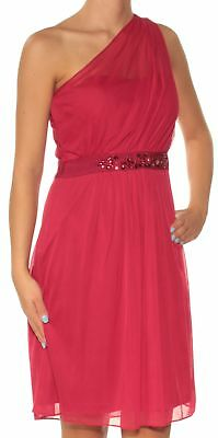ADRIANNA PAPELL $169 Womens New 1514 Red Beaded Fit + Flare Formal Dress 2 B+B