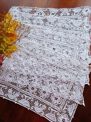 Antique Handmade Italian BOSA Knotted Lace Placemat SET of 4  Lovely!