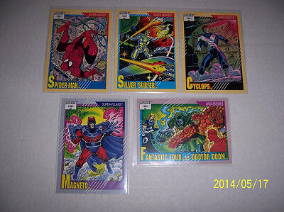 1991 rare Marvel Universe 5-Card Cello Pack Font Variant Cards 1 45 51 57 124