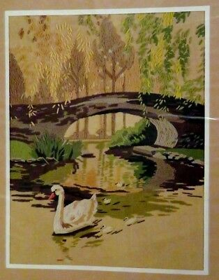Vintage Sunset Designs Wool Crewel Embroidery Kit-A Time To Reflect 2453 Swans