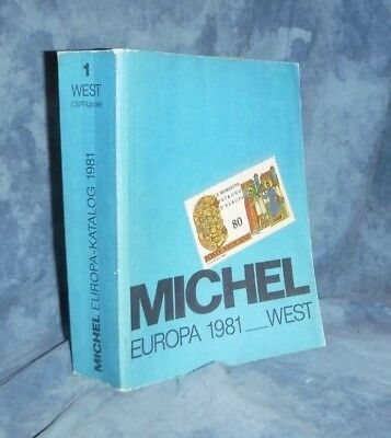 Michel Europa 1981 West Stamp Album Europe Softcover