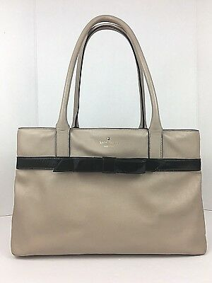 df4b5cbaf7fa Kate Spade Large Tote Leather Beige Mount Ivy Helena Handbag Nude Bag Patent  Bow