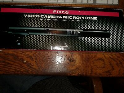 Ross Video Camera Microphone model RE-381 directional condenser, barely used