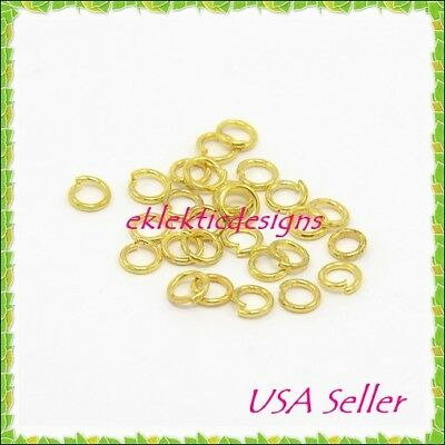 8mm 10pcs 18 Gauge Gold Plated Stainless Steel Jump Rings Jewelry Findings Open