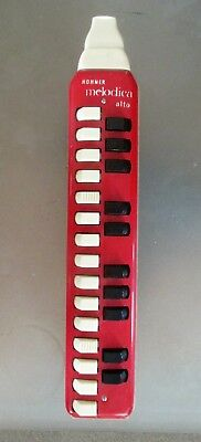 Red Vintage Hohner melodica Alto good condition