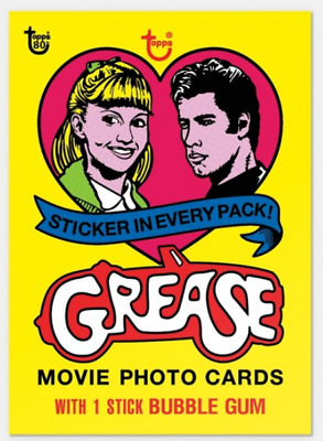 2018 Topps Wrapper Art #43 1978 Grease Card Only from Set #15 Print Run 271