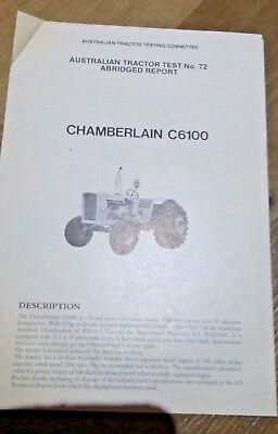 Chamberlain C6100 Tractor 4  Page 1970 Test Brochure