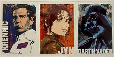Star Wars ROGUE ONE Series 1 CHARACTER ICON  Trading Card Set of 11 VADER 2016