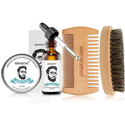 Beard Grooming & Trimming Kit for Men - Beard Oil & Balm,Beard Comb & Brush Kit