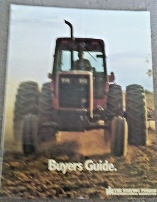 International Buyers Guide Tractors 24 Page 1984 Brochure