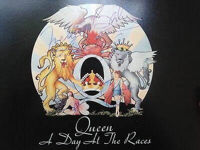 Queen, Autograph, Freddie Mercury signed, LP, A Day At The Races, with CoA