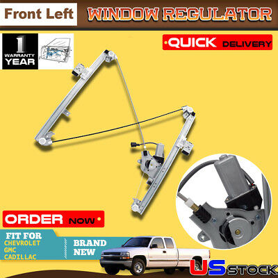 Power Window Regulator w/Motor Front Driver Side Left LH for Cadillac Chevy GMC