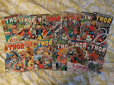 Marvel The Mighty Thor 13 ISSUE BUNDL (70s/80s) VG