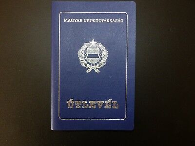 Hungary socialist passport type I. 1984 travel to Swiss USA Germany