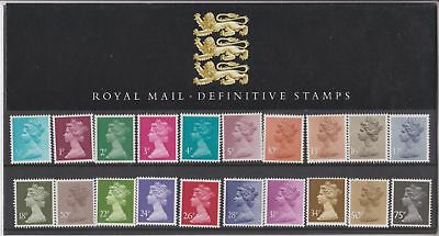 GB Presentation Pack No. 5 Machin Definitive Stamps 1984 1/2p-75p 10% off 5