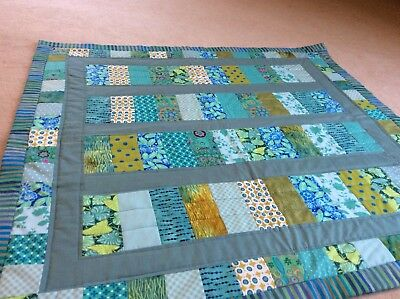 Handmade Patchwork Quilt. Bed Topper/ Lap Quilt. Lovely Colours. Winter Is Here!