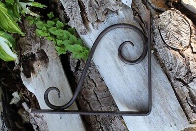 Shelf Support Curved Antique Brown Rack Mount Console Style