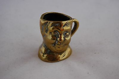"Small Brass Toby Jug/Toothpick Holder ""Fat Boy"" Dickens charachter"