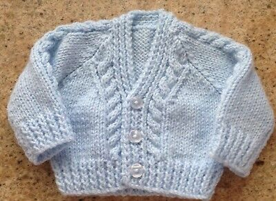 New Hand Knitted Small Baby Cardigan