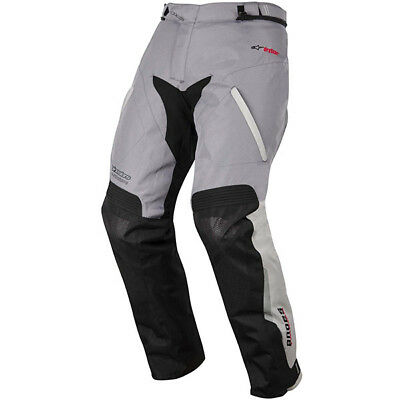 Alpinestars Andes Drystar Textile Waterproof Motorcycle Pants Light Grey Black