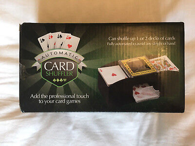 Automatic Professional Card Shuffler Up To 2 Decks. Battery Powered. Brand New
