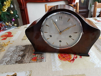 Vintage Smiths 8-Day Floating Balance Mantel Clock With Westminster Chimes