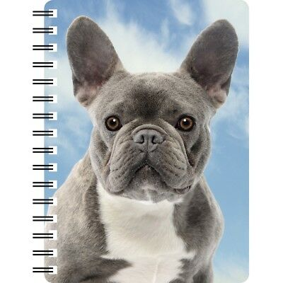 Blue French Bulldog Notebook with 3D picture on the cover