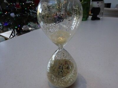 30 Minute Kitchen Sand Egg Hourglass Decorative Timer - gold decoration on glass