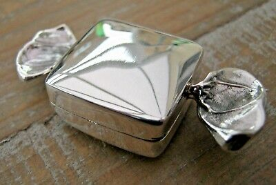 Birmingham Hallmarked Solid Sterling Silver Sweet Box Pill Keepsake Sweetheart