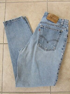 Vtg Levis 912 Womens Jeans High Waist Tapered Leg Slim Fit Size 13 S