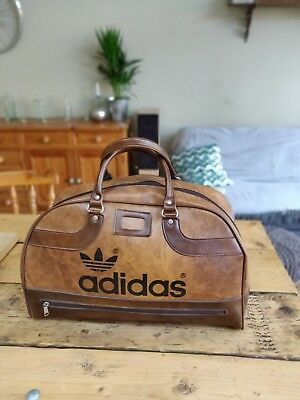 Vintage ADIDAS Peter Black Sports Bag Rare Holdall Retro Weekender brown a43a4b68b5020