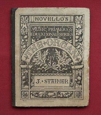 THE ORGAN by J STAINER Novello's Music Primer No 3 🎹 Antiquarian Book 📓