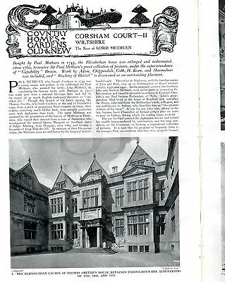 1937 COUNTRY LIFE Magazine GREYHOUNDS Khmer Cambodia CORSHAM WILTS (2312)
