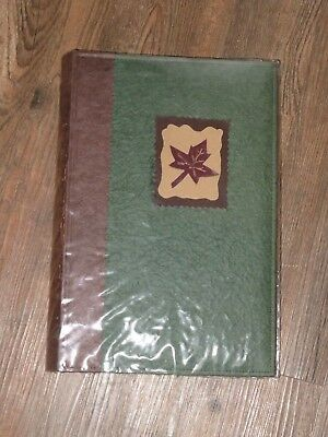 """Green and Brown Photo Album Holds 300 4""""x6"""" pictures NEW"""