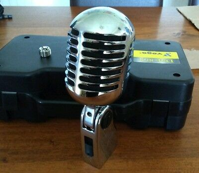 Retro Chrome Mic 50s Elvis Style Old Fashioned Microphone w Carry Case DM-868
