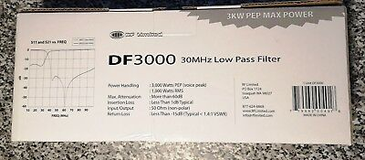 RF Limited DF3000 30MHz Low Pass Filter - Tiefpassfilter 3KW PEP Max Power