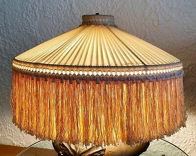 Classic Antique/victorian-Style Round Fringed Lampshade - Excellent Condition