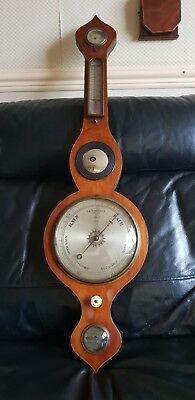 Vintage Green Bank And Sons Barometer W/ Thermometer