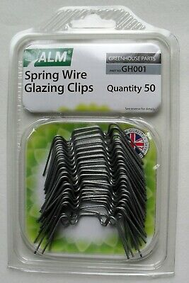 Greenhouse Glass Spring Wire W Glazing Clips Pack 25 by Supagarden