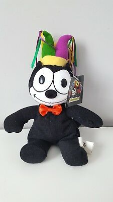 Felix the Cat Black and White Mardi Gras Jester Plush 2003
