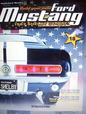 Deagostini Ford Mustang Car Gt Model Shelby Partwork # 18 1:8 Scale Muscle Car
