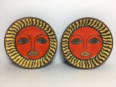 """Vintage FF - Fitz And Floyd Japan Small Dish Sun Face 3.5"""""""