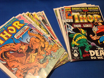 The Mighty Thor 27 Issues comic lot 1980-90s - Bagged and Boarded.