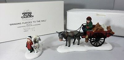 """NEW Dept 56 """"Bringing Fleeces To The Mill """"Heritage Village Accessory 58190"""