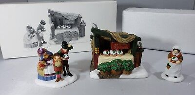 """Vintage Dept 56 Dickens Village """"Christmas Pudding Costermonger"""" #58408 Heritage"""
