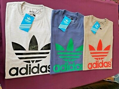 Men's T-shirt Adidas Originals Trefoil California Short Sleeve Crew Neck Tees